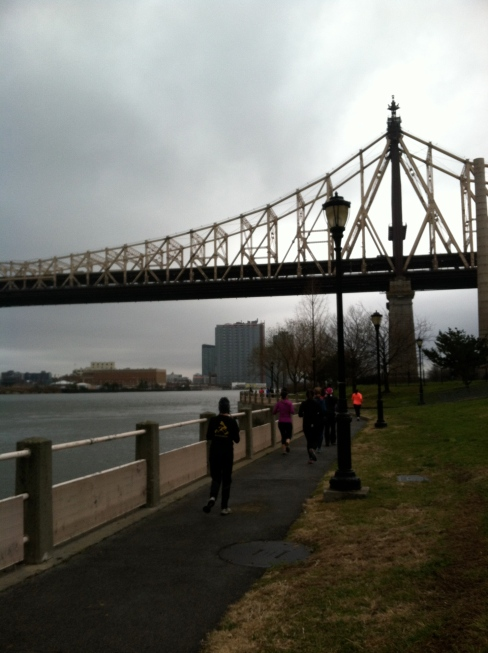 Queensboro bridge near the halfway mark